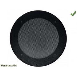 GRILLE HAUT-PARLEUR UNIVERSELLE D200 RONDE NOIRE METAL