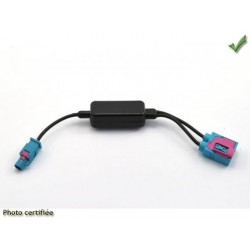 Adaptateur d antenne double fakra femelle vers simple fakra male audi vw 2008