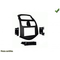 Facade autoradio chevrolet spark 2013 simple din ou double din noir mat