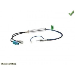 Adaptateur d antenne double 1 fakra 1 iso audi vers din