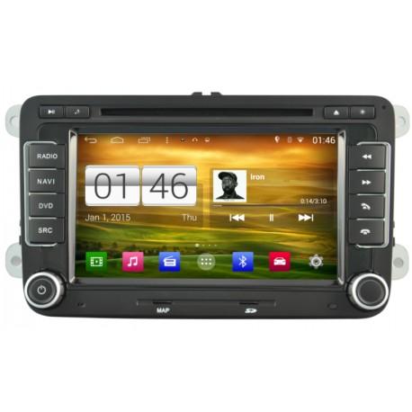 Autoradio Android 4.4.4 GPS Volkswagen Golf 5, Golf 6, Beetle, Eos, Touran, T5, Tiguan, Polo, Caddy, Passat, Jetta, Amarok, Shar