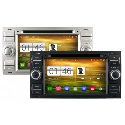 Autoradio Android 4.4.4 Wifi GPS Waze Ford Kuga, C-Max, S-Max, Fiesta, Focus, Fusion, Transit, Mondeo