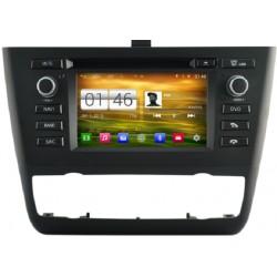 AUTORADIO GPS BMW Série 1 E81 E82 E87 E88 de 2006 à 2012 - Climatisation automatique ou manuel ANDROID OU WINDOWS