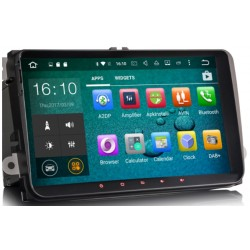 "Poste Android écran tactile 9"" Volkswagen Golf 5, 6, Beetle, Eos, Touran, T5, Tiguan, Polo, Caddy.."