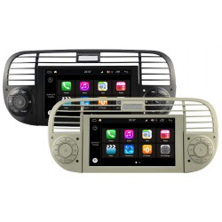 AUTORADIO GPS FIAT 500 BLANC OU NOIR